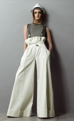 Paper Bag Waisted Waist Pants