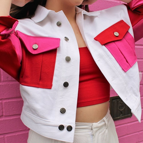 Color Block Denim Jacket