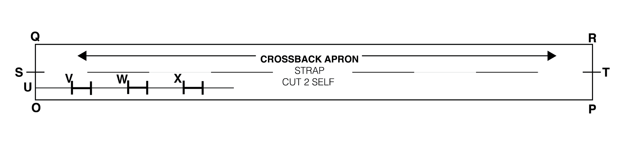 Crossback Apron Drafting Instructions